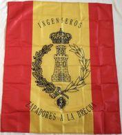 Bandera Ingenieros, Zapadores, De Mochila. Ejército Español. España - Bandiere