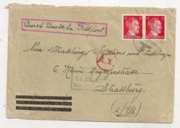 1943 DURCH DEUTSCHES FELPOST / NEU STRASSBURG SPEDITIONS UND NIEDERLAGEN / CENSURE Ax  C960 - Storia Postale
