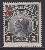 Liberia 1915-16 Ovpt Official Sc O82 Mint Hinged - Liberia