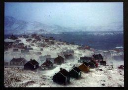 Greenland  Cards, Tasiilaq In A Snow Blizzard ( Lot 270 ) - Groenlandia