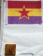 Banderín Bandera Partido Comunista. Guerra Civil Española. República Española. España. 1936-1939 - Bandiere
