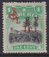 Liberia 1916 Ovpt Official Sc M6 Mint Hinged - Liberia
