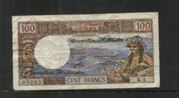 (special Under Stamps) 100 Francs - Banknote / Billet 100 F From Nouvelles Hébrides (08365 K 1) See Front And Back - Other - Oceania