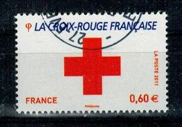 2011 N 4623 LOGO CROIX-ROUGE OBLITERE  CACHET ROND #230# - Frankreich