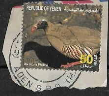 Yemen Special Cancellation, Bird Alectoris Philbyi Used Stamps. - Yemen