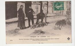 Guerre 14/18, Hommage D'Officiers Français Sur Les Tombes Des Camarades Tombés Au Combat Près Fère Champenoise - Guerre 1914-18