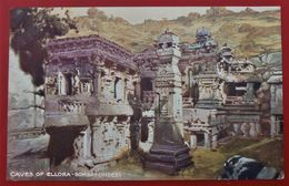 Cpa Illustrateur BOMBAY Caves Of ELLORA - Inde