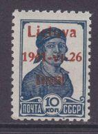 Dt.Bes.2.WK Litauen Zarasai MiNr. 2bI ** Gepr. - Besetzungen 1938-45