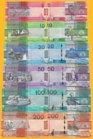 Gambia Full Set 5, 10, 20, 50, 100, 200 Dalasis P-new 2019 UNC Banknotes - Gambia