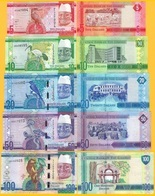 Gambia Set 5, 10, 20, 50, 100 Dalasis 2015 UNC Banknotes - Gambia