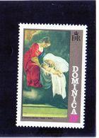 1972 Dominica - Madonna Col Bambino Di Orazio Gentileschi - Madonnas