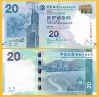 Hong Kong 20 Dollars P-341c 2013 Bank Of China UNC - Hongkong