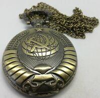 Reloj Ejército URSS CCCP De Bolsillo Con Cadena. Rusia Comunista. Fabricación Actual. Reloj De Cuarzo - Other