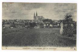 Frankreich Chartres Vue Generale Prise De Cachembach 1944 - Chartres