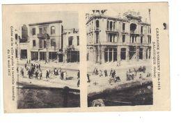 CPA Grèce Greece Salonique Campagne D'Orient 1914 1918 Coins De La Ville Après Incendie Fire 18 Août 1917 Stereo View - Griechenland