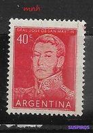 ARGENTINA   1954 -1959 General Jose De  San Martin   MINT GJ 1939 - Argentina