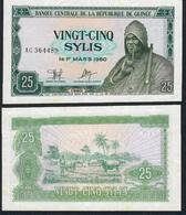 GUINEA GUINEE P24  25 SYLIS 1980 #AG UNC. - Guinee