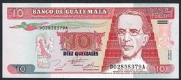 GUATEMALA P89 10 QUETZALES 1995 UNC. - Guatemala
