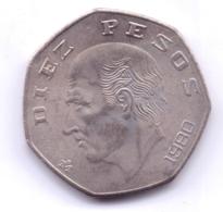 MEXICO 1980: 10 Pesos, KM 477 - Mexico