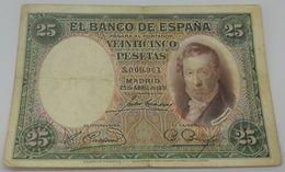 Billete 1931. 25 Pesetas. República Española. España. Sin Serie. Vicente López. MBC - [ 2] 1931-1936 : Repubblica