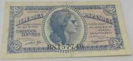 Billete 1937. 50 Céntimos. República Española. Guerra Civil. España. MBC - [ 2] 1931-1936 : Repubblica