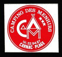 AUTOCOLLANT  CAMPING DES MENHIRS à CARNAC PLAGE - Pegatinas
