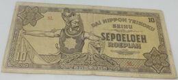Billete 1944. 10 Rupias. Ocupación Japonesa De Indias Holandesas. 2ª Guerra Mundial. MBC - Nederlands-Indië