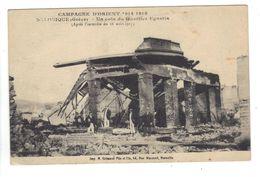 CPA Grèce Greece Salonique Campagne D'Orient 1914 1918 Coin Du Quartier Egnatia Ruines Après Incendie Animée - Griechenland