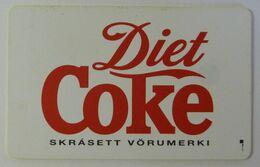 ICELAND - Chip - Simakort - Diet Coke - ICE-RA-07 - 5000ex - Used - Iceland