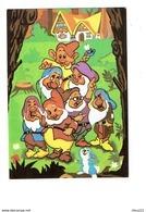 Cpm - Le Monde Merveilleux De WALT DISNEY - 7 NAINS - Nain Lapin Champignon - Illustration - Disney