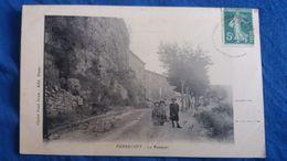 CPA PIERREVERT 04 BASSES ALPES LE REMPART PETITE ANIMATION ED PAUL BRUN 1916 - Altri Comuni