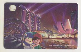 Singapore Travel Transport Card Subway Train Bus Ticket Ezlink Used Singapore Landmarks - Metro