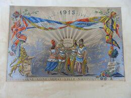 ANCIENNE GRAVURE EXPOSITION 1905 ITALIE 1er OU 2em PRIX LE NOM DU BENEFICIAIRE EST INDIQUÉ PAS TROP LISIBLE  REHAUSSÉE A - Prints & Engravings