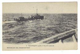 CPA Grèce Greece Salonique Petit Camarade Bateau De Guerre En Mer Warship - Griechenland