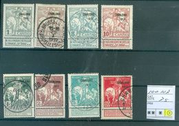 100-107  Côte  75€ - 1910-1911 Caritas
