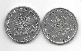 *trinidad & Tobago 25 Cents  1993+1997 Km 32 - Trinidad En Tobago
