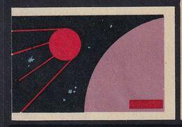 Russia CCCP Space Weltraum Espace: Matchbox Label; Sputnik I - Luciferdozen - Etiketten