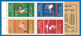 Germany Bundes Rep. 1972 Year MNH(**) Booklet Sport - [7] Federal Republic