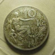 Czechoslovakia 10 Korun 1932 Silver - Tchécoslovaquie