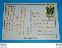 KENIA KENYA - AK Postcard - Brief Letter Lettre 信 Lettera Carta пи�?ьмо Brev 手紙 จดหมาย Cover Envelope (2 Foto)(34339) - Kenya (1963-...)