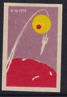 Russia CCCP Space Weltraum Espace: Matchbox Label; Luna 3; First Pictgures Of Dark Side Of The Moon - Luciferdozen - Etiketten