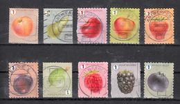 Belgie 2018 Mi Nr 4841 - 4850, Fruit, Peer, Appel, Bosbes, Kruisbes - Used Stamps