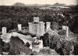63 - Pontgibaud - Vue Aérienne Du Château Et Panorama Sur La Chaîne Des Dômes - Autres Communes