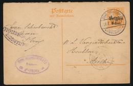 SCHOUBERCHT ST.TRUIDEN   NAAR ASSE DUITSCHE CONTROLE STEMPEL 1917  HOUBLONS V.GINDERACHTER  2 SCANS - Asse