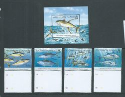 Ascension 2005 Sports Fish Tuna Set Of 4 & Miniature Sheet MNH - Ascensione