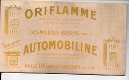 Buvard ORIFLAMME  / AUTOMOBILINE   Pétrole / Essence Avec Partie De Calendrier 1910 (M0578) - Automotive
