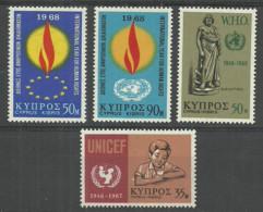 Cyprus 1968 Year, 4 Mint Stamps MNH (**) - Chypre (République)