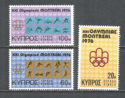 Cyprus 1976 Year , Mint Stamps MNH (**) Sport - Chypre (République)