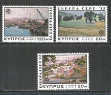 Cyprus 1977 Year, Mint Stamps MNH (**) Set  Europa - Chypre (République)