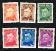 SLOVACCHIA (SLOVAKIA)  -  SG 139.144  -  1945 MGR TIRO (COMPLET SET  OF 6)  -   UNUSED* - Ungebraucht
